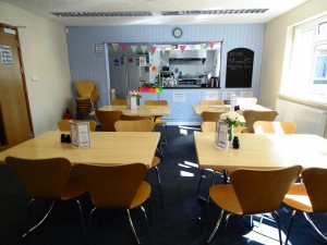 Maerdy Cafe and Service Hatch into the kitchen