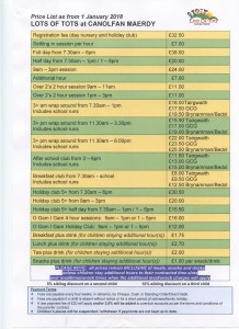 LoT Price List 2018429